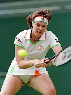 Tennis women pussy slips